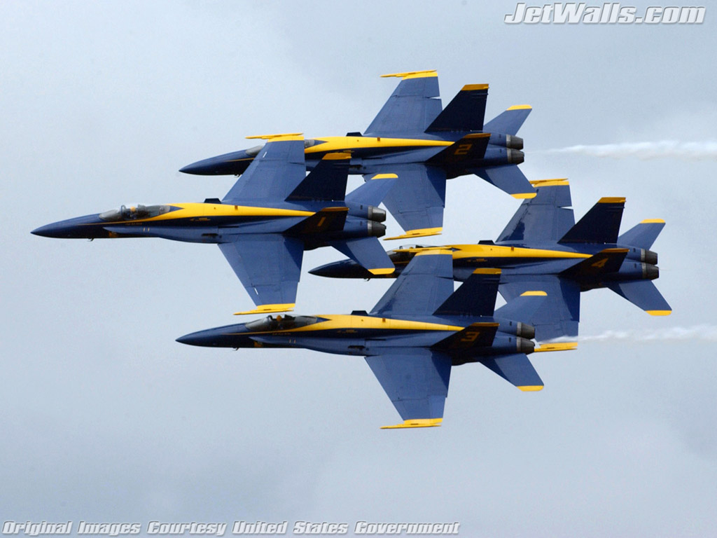 """Blue Angels"" - Wallpaper No. 85 of 101. Right click for saving options."