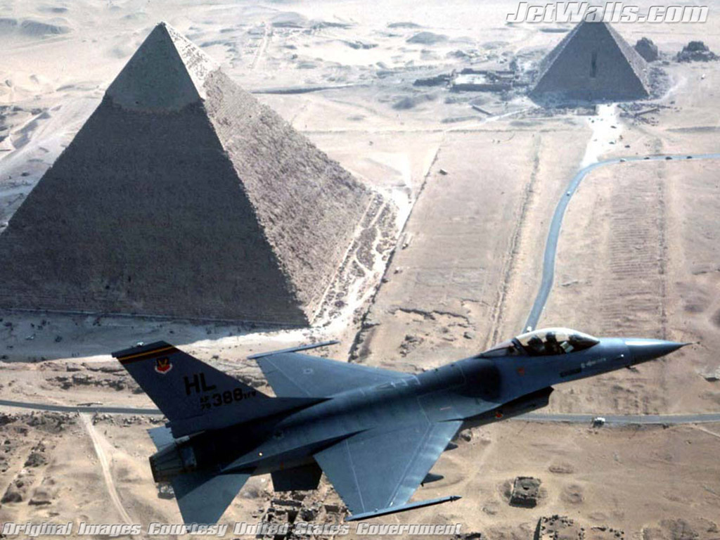 """F-16 Fighting Falcon Over Egypt"" - Wallpaper No. 3 of 101. Right click for saving options."