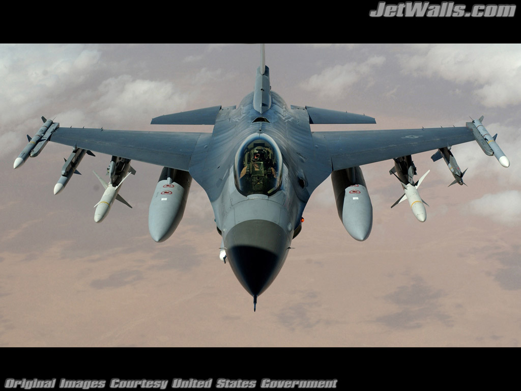 """F-16 Fighting Falcon"" - Wallpaper No. 95 of 101. Right click for saving options."