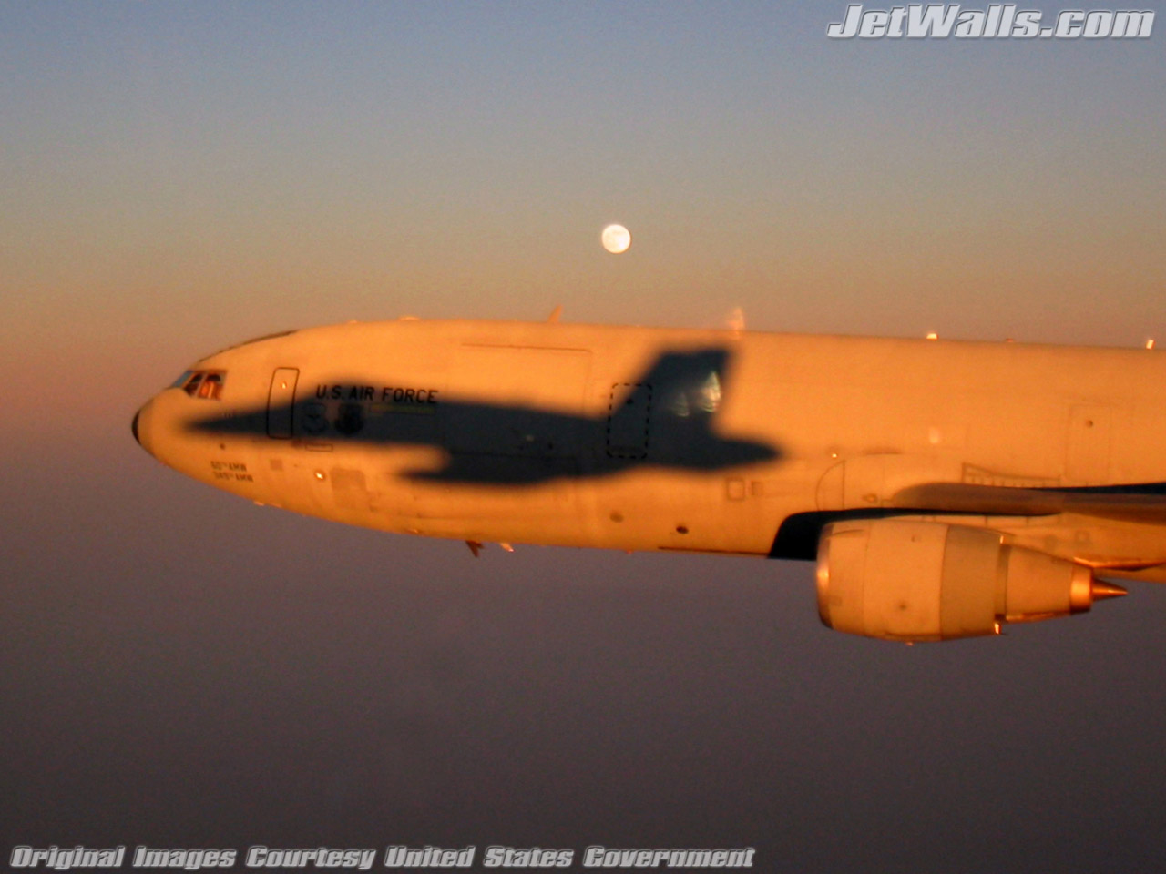 """F/A-18C Hornet Shadow on KC-10A Extender"" - Wallpaper No. 17 of 101. Right click for saving options."