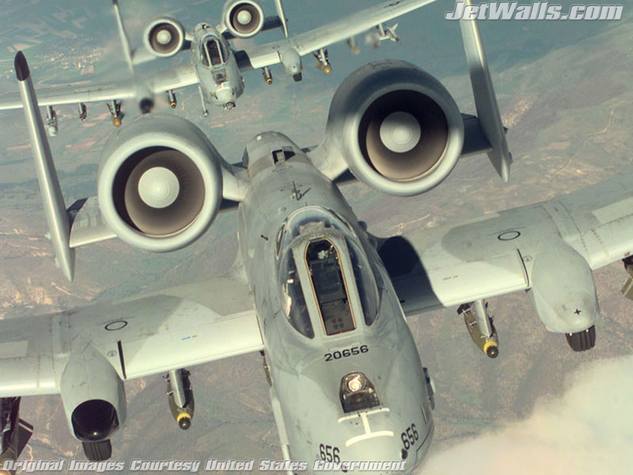 """Two A-10 Thunderbolt IIs"" - Wallpaper No. 11 of 101. Right click for saving options."