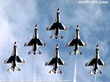 """U.S. Air Force Thunderbirds"" - Wallpaper No.4.  Click for 640x480 or select another size."