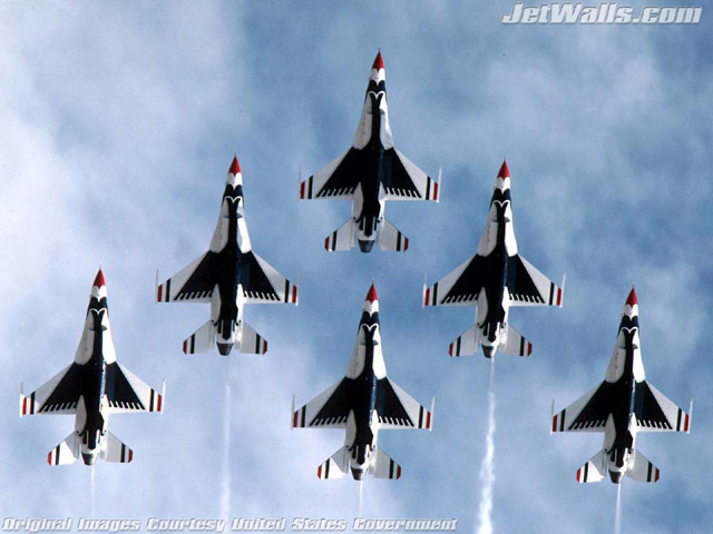 """U.S. Air Force Thunderbirds"" - Wallpaper No. 4 of 101. Right click for saving options."