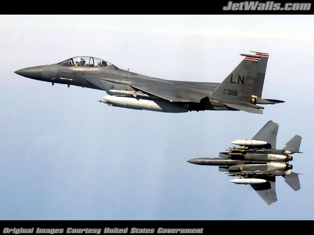 """F-15E Strike Eagles"" - Wallpaper No. 30 of 101. Right click for saving options."