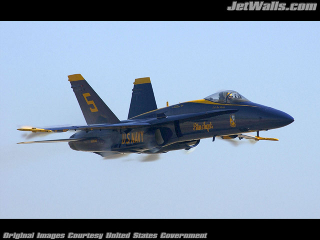 """Blue Angels F/A-18"" - Wallpaper No. 46 of 101. Right click for saving options."