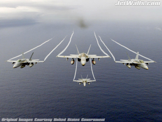 """F/A-18C Hornets"" - Wallpaper No. 92 of 101. Right click for saving options."