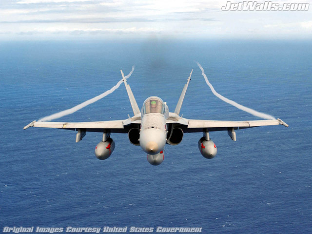 """F/A-18 Hornet"" - Wallpaper No. 13 of 101. Right click for saving options."