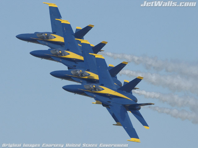 """Blue Angels"" - Wallpaper No. 43 of 101. Right click for saving options."