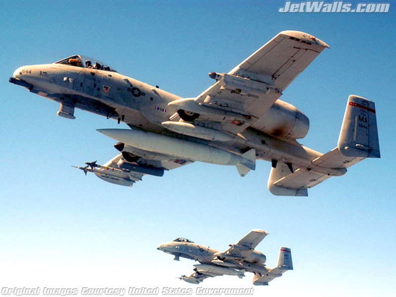 """A-10 Thunderbolt IIs"" - Wallpaper No. 100 of 101. Right click for saving options."